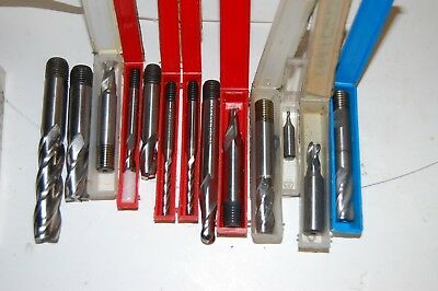 Milling Cutters New And Slight Used 13 Total