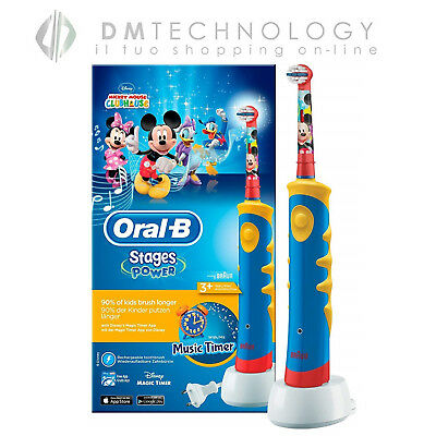 SPAZZOLINO Oral-B STAGES POWER Kids Power Mickey D10.513K TOPOLINO MUSIC TIMER