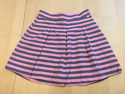 Sergent Major Striped Skirt, Pink, Girls Sz 8, Adjustable Waist, New With Tags!