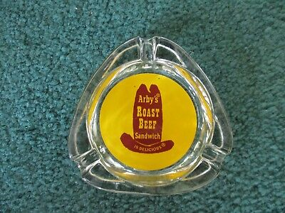 Vintage~Arbys Roast Beef Sandwich Is Delicious~Ash Tray~Yellow~Free Shipping