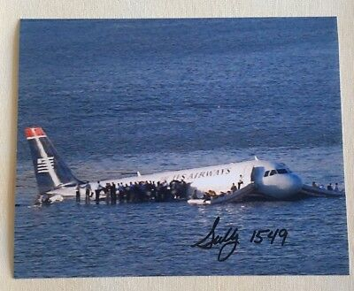 US Airways Captain Sully Sullenberger Signed Autographed 8x10 Photo *SALE*