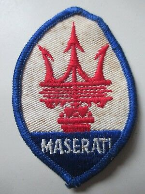MASERATI  sew on  emblem / patch