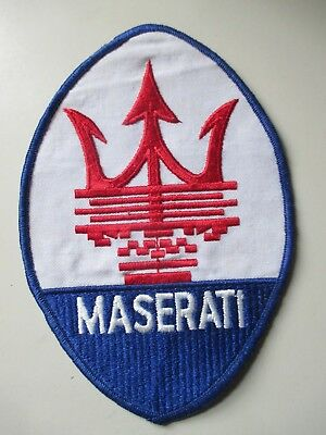 MASERATI  sew on  emblem / patch  LARGE