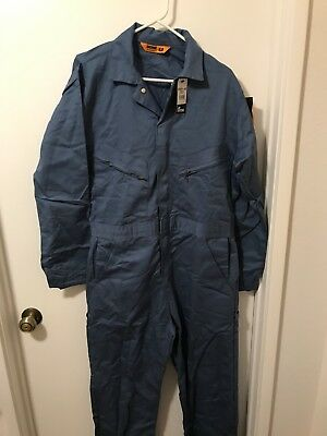 Berne Mens Deluxe 8.2 Ounce Unlined Coverall, Postman Blue, 40 Regular