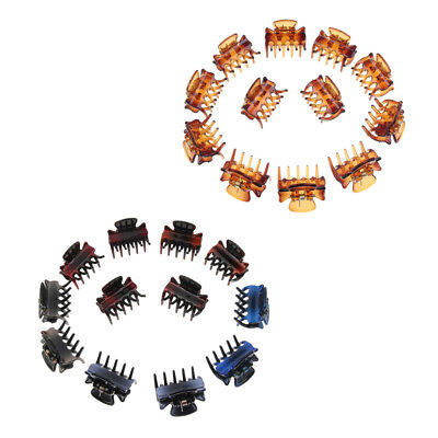 24x Girls Classic Resin Mini Hair Claws Grips Clip Clamps Pins Accessories