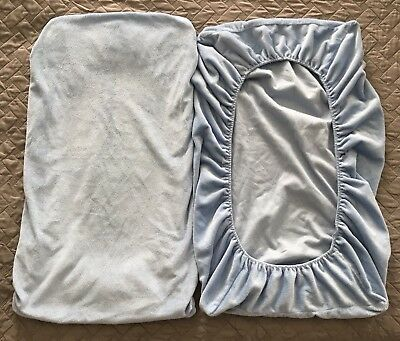 Summer Infant Baby Changing Table Pad Cover Plush Blue Washable GUC!