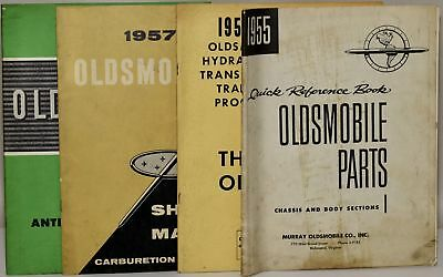 Group Of Four Oldsmobile Manuals 1 1955 Quick Reference Book Oldsmobile #278914