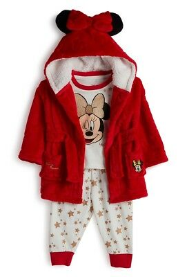 Brand New With Tags Primark Disney Baby Minnie Mouse 3 Piece Pyjama Sleep Set