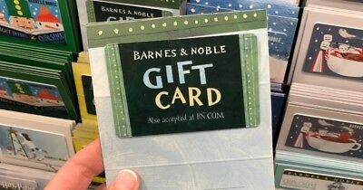 $50 / $100 Barnes & Noble Gift Card (Paper) - FREE 1st Class Mail Delivery