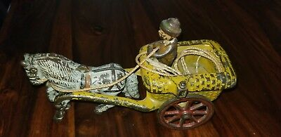 Vintage Arcade Chester Gump With Horse And Cart Cast Iron Antique Toy