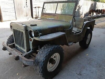 Willys jeep 1944 ww2 MB military vehicle classic car barn find