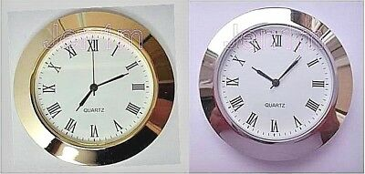 """60mm fit 50 or 1, 31/32"""" hole/ Clock/ Watch Insert free spare battery"""