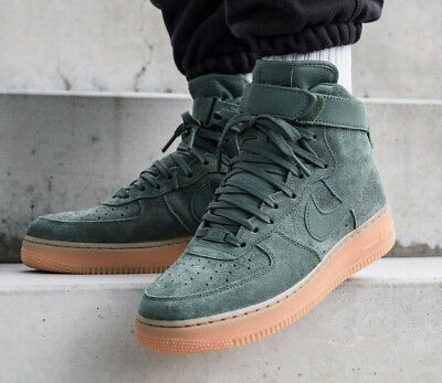 uk availability 5237d 53623 Nike Air Force 1 High 07 Lv8 Suede Mens Trainers Uk 6 Eu 40 Af1 Green