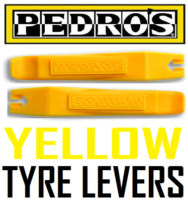 Pedros Bike Workshop Tools - Pair Of YELLOW Cycle Tyre Levers