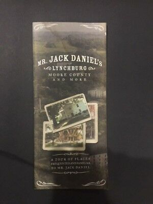 Jack Daniels Lynchburg Moore County Self Tour Tourist Map - Whiskey