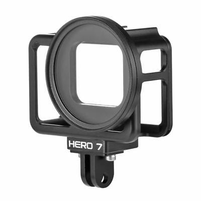 CNC Protective Housing Case Cage Mount with UV Lens Filter for GoPro Hero 7 6 5