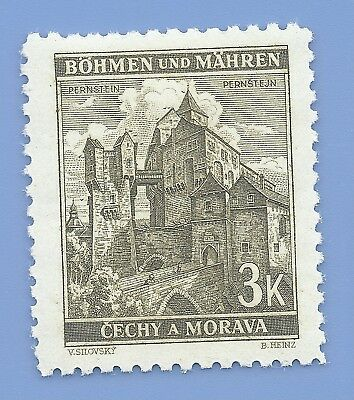 Nazi Germany Third Reich Nazi B&M Buildings 3k Stamp MNH WW2 Era stamp