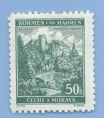 Nazi Germany Third Reich Nazi B&M Buildings 50h Stamp MNH WW2 Era stamp