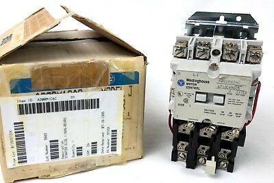 New Surplus WESTINGHOUSE A200M1CAC Size 1 Model J A200 Starter 110/120V Coil