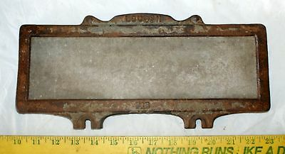 Old Antique Rare LOUDEN name plate holder barn sign hay trolley co. Fairfield IA