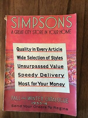 1933-4 Simpson's Fall And Winter Catalogue