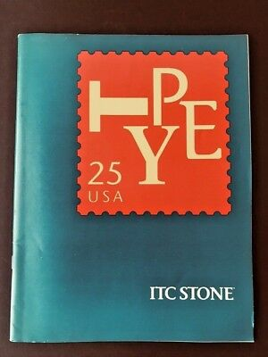 ITC Stone, Type Specification book, 40 pages with covers, 1989, graphic design