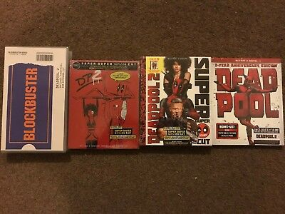Deadpool 4K Blu Ray steelbook, VHS case Anniversary and Super Duper cut