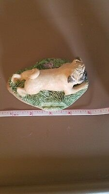 Pug Fawn Figurine/statue 5 inches long preowned porcelain.