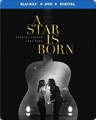 A Star Is Born Steelbook (Blu-ray+DVD+Digital HD) *Factory Sealed
