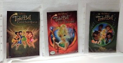 3 DMC  3D Lenticular Card TINKERBELL, LOST TREASURE, GREAT FAIRY RACE 1 2 & 3