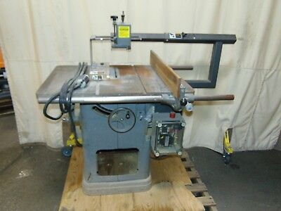 "Commercial 10"" Rockwell Table Saw With Brett-Guard Safety 3 Phase"
