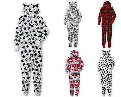 Womens One Piece Hooded Pajamas Costume Sleeper Union Suit Sweet Treats
