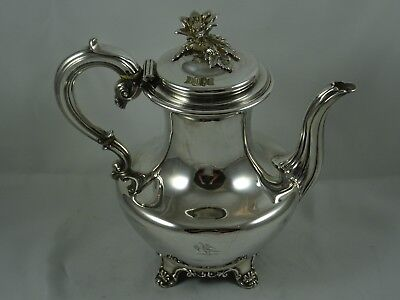 VINTAGE, WILLIAM IV solid silver COFFEE  POT, 1832, 885gm