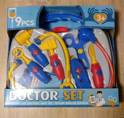 DOCTOR SET Kids MEDICAL Carry Case KIT - Role Play. BRAND NEW