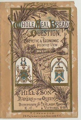 Victorian Pamphlet Cover,arms Of The Brown Bread Bakers Co,w.hill & Son