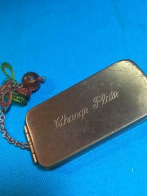 Vintage Charge Plate Brass Box Dept. Store Charge Card Box, Credit Card History!