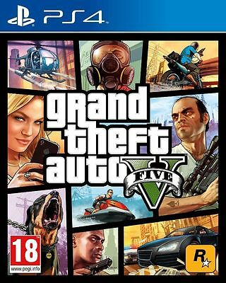 Playstation PS4 GTA 5 Grand Theft Auto V Europe Version - BRAND NEW and Sealed!!