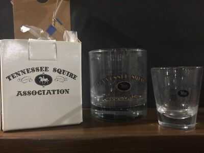 Jack Daniels Tennessee Squire 2015 Rocks and Shot Glass Set Limited Edition