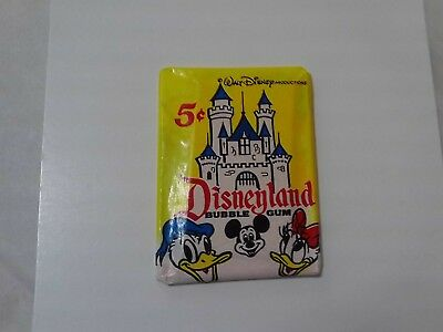 1965 Donruss Disneyland Unopened Pack Mint