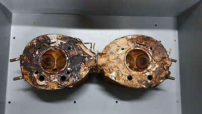 Old Ural 650 cc cylinder heads (right + left) NOS (Made in USSR) 1963-1978 NEW