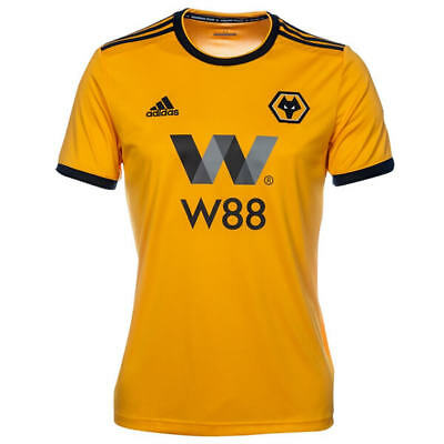 "Wolverhampton Wanderers Home Football Shirt 18/19 ""1 DAY FIRST CLASS DELIVERY"""