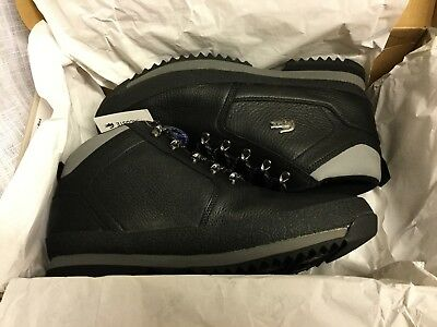 d707ae99401 Lacoste Mens Upton Hiker Leather Boots Black Grey UK SIZE 10  NEW BOXED TAGGED.
