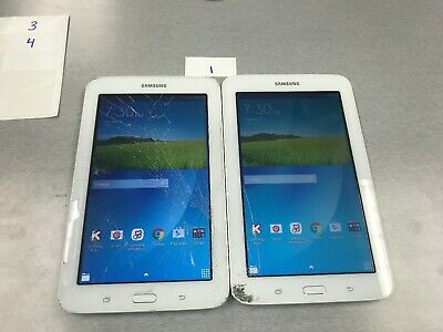 LOT OF TWO Samsung Galaxy Kids Tab E Lite SM-T113 8GB, Wi-Fi, 7in - White