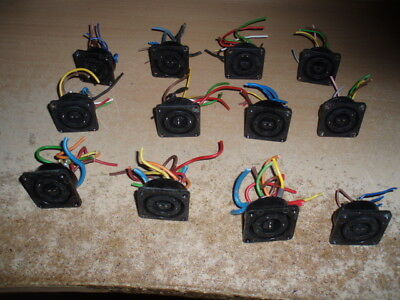 BULGIN SOCKETS USED x 12  8-PIN - DISCO LIGHTING-JOB LOT