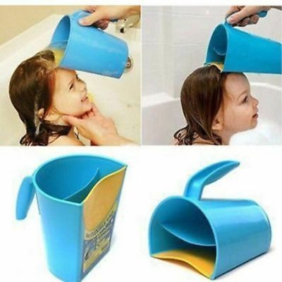 [2x] Waterfall Shampoo Rinse Cup Baby Kids Bath Cup Wash Hair Rinsing Cup Water