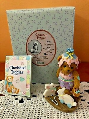 "ENESCO~Cherished Teddies ~""YOU'RE SOMEBUNNY SPECIAL"" ~MYRTLE'S EASTER~2012 MINT"