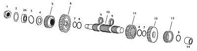 Andrews 296440 5-Speed Countershaft Gear - 4th (5)