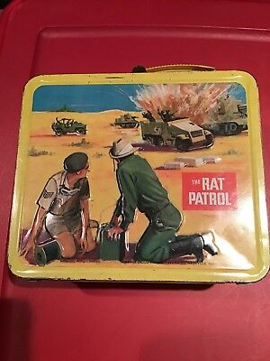 1967 THE RAT PATROL METAL LUNCH BOX BY ALADDIN Without Thermos Nashville, TN