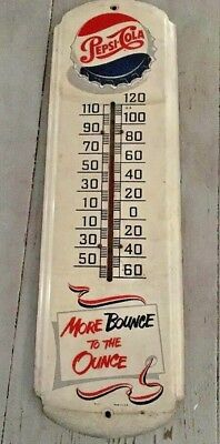 """Pepsi-Cola  Thermometer 27"""" More Bounce To The Ounce"""