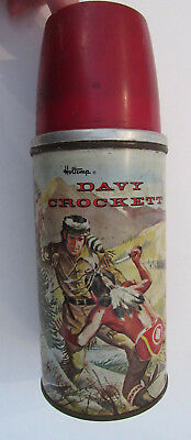 Davy Crockett Glass Lined Thermos Holtemp Vintage
